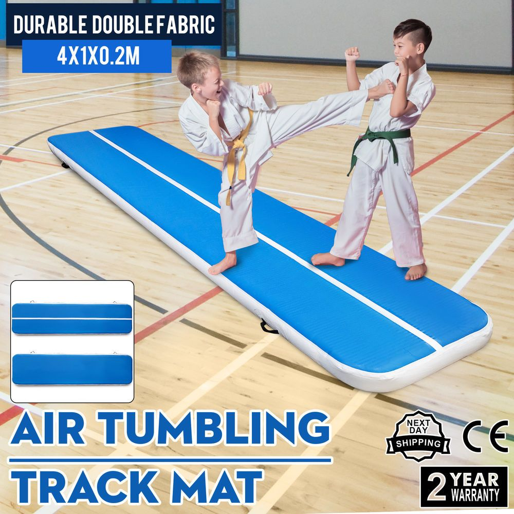 13Ft Air Track Floor Tumbling Inflatable Gym Mat 1.2Mm PVC
