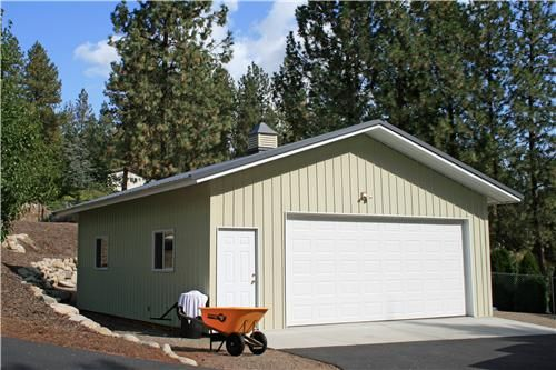 Small Metal 2 Car Garage Steel Garage Buildings With Images