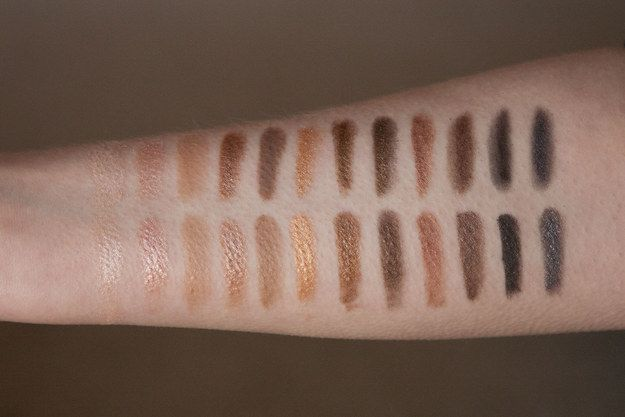The Naked Palette vs W7 In The Buff Palette in Lightly Toasted (dupe)