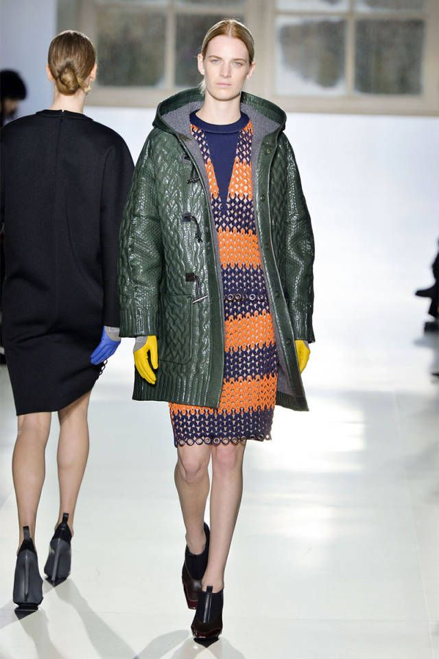 See how fall color's mix and match is done on the runway, here: