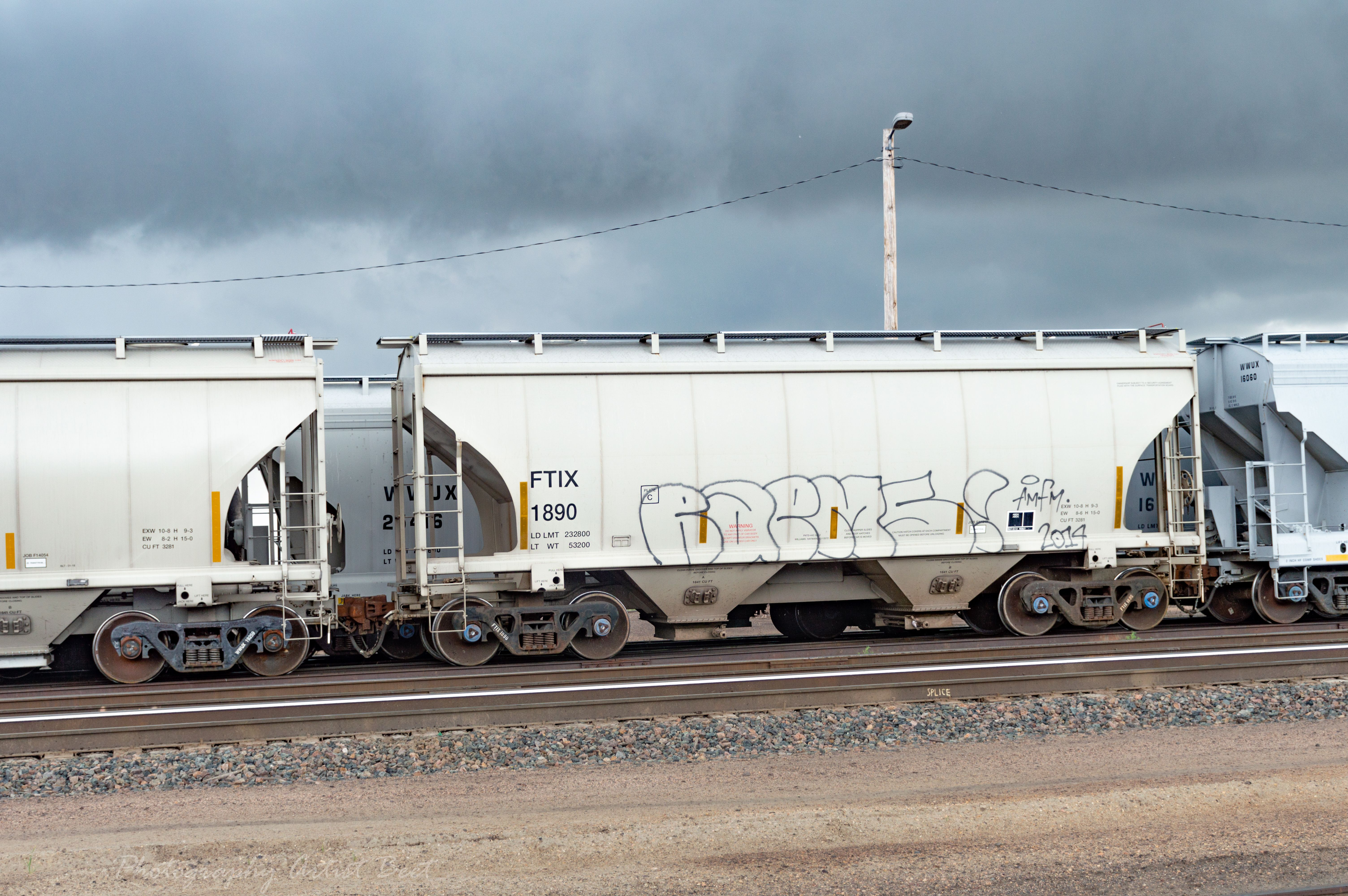 Rain Storm Hit Just After Reaching The Rail Yard Just Look At The