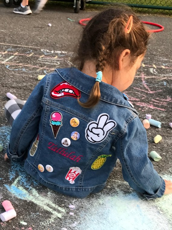 Patches For Jackets Near Me : patches, jackets, Girls, Custom, Patches, Denim, Jacket, Fashion,, Embellished, Jacket,