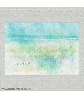 Sterkte aquarel strand en duinen
