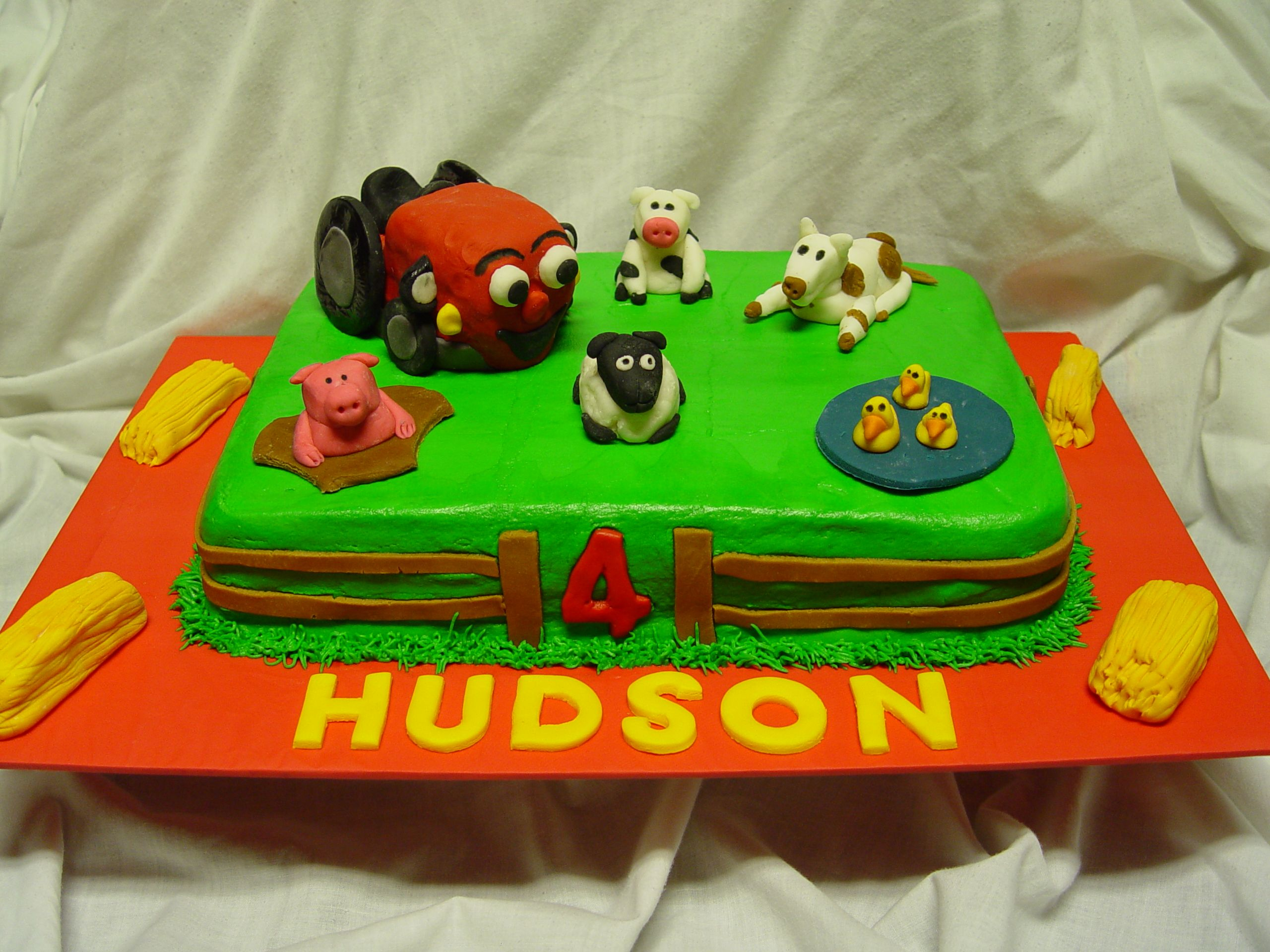 Tec The Tractor Cake MMF decorations Babys First Birthday