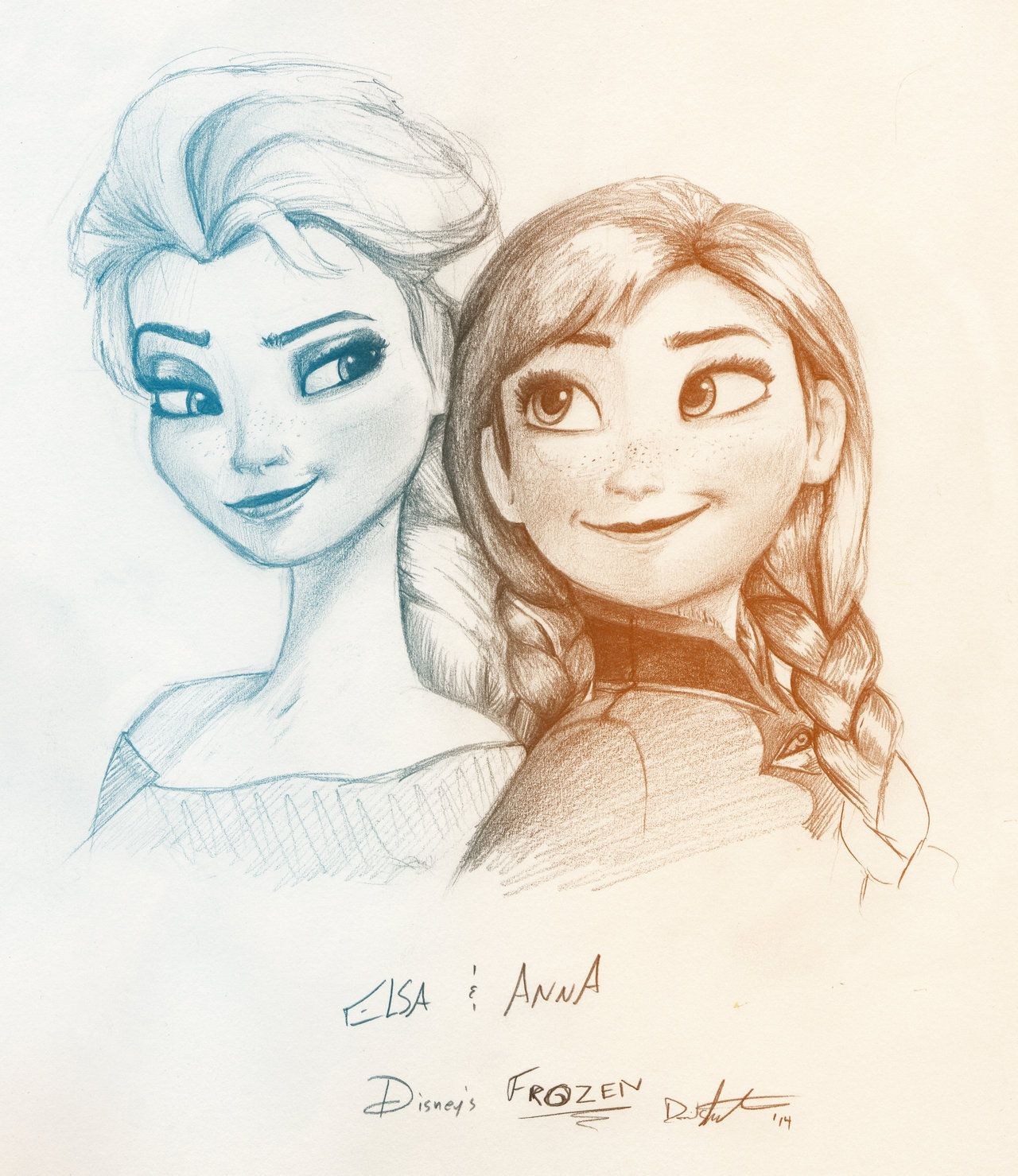 Frozen Anna And Elsa Drawing Elsa Frozen Tumblr Drawing ...