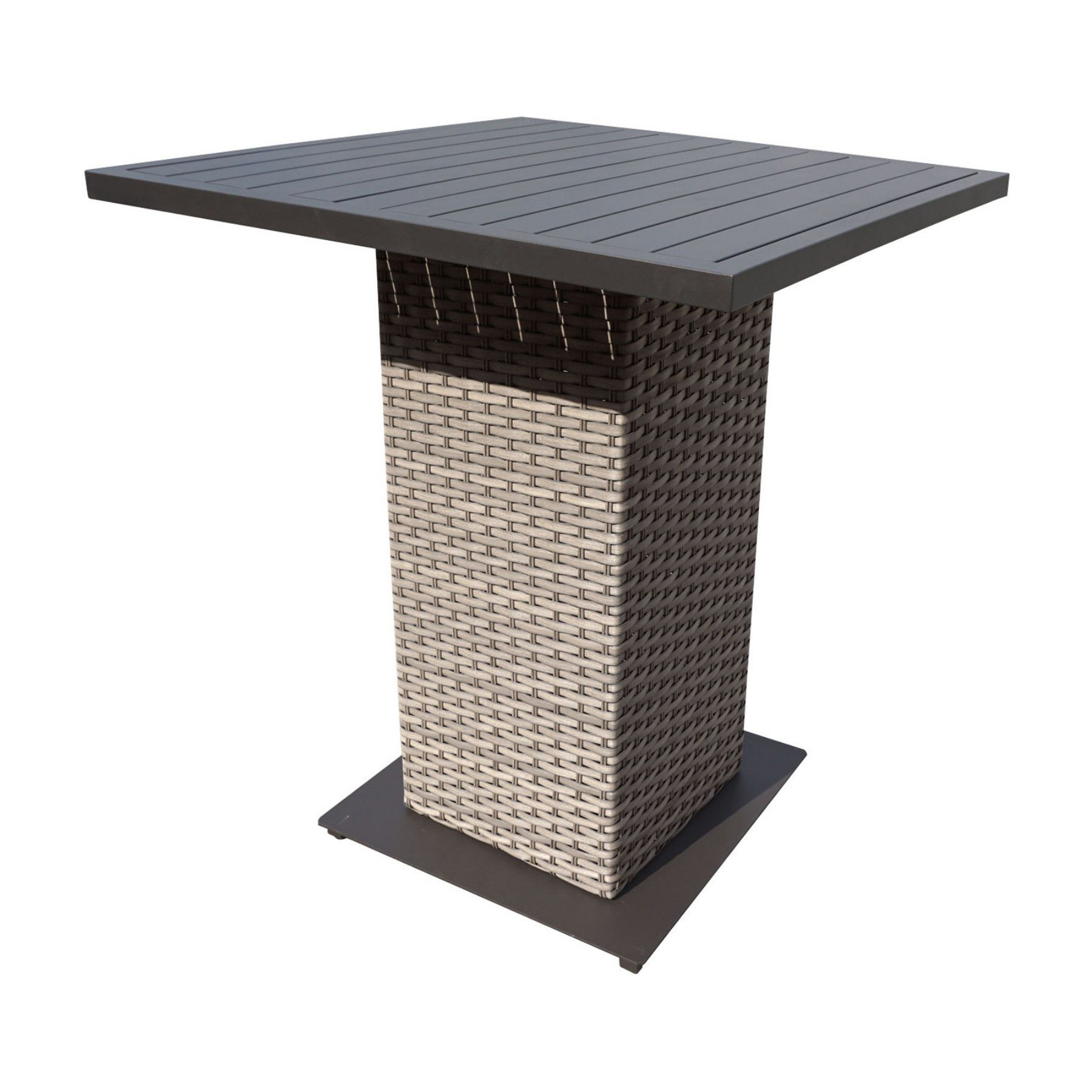 Tk Classics Monterey Square Wicker Bar Height Patio Dining Table In