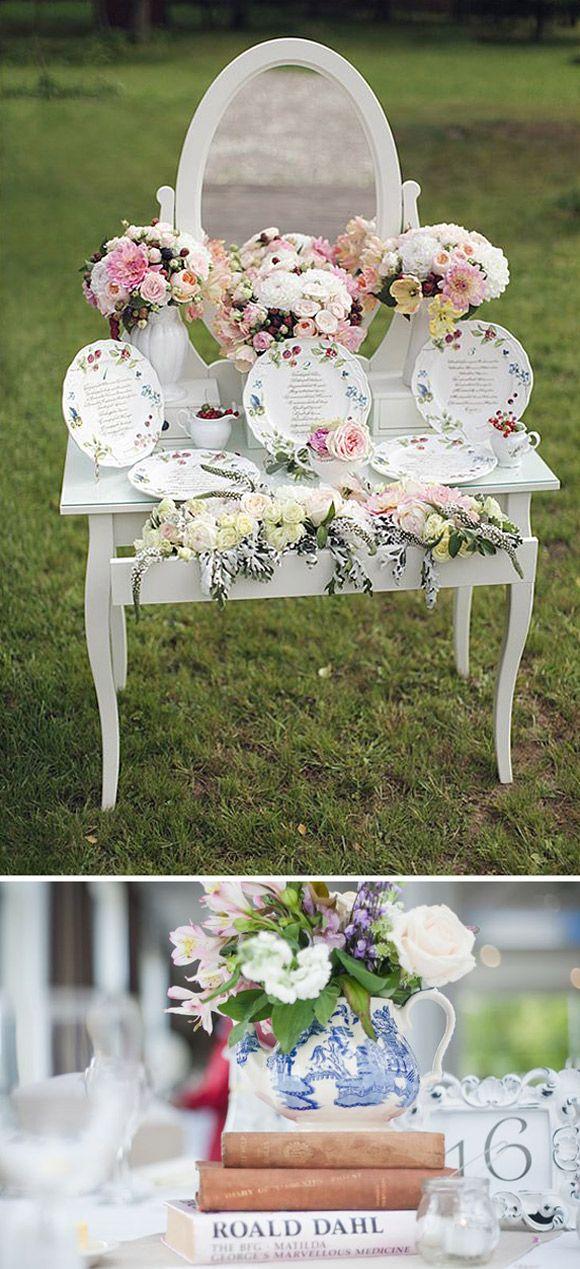 Como decorar tu boda con porcelana diario de una novia - Como decorar para una boda ...