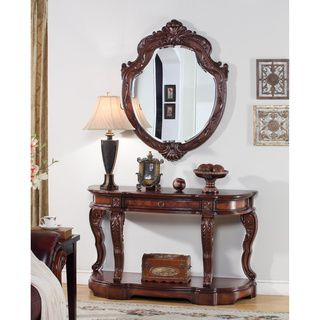 High Quality U0027Victoru0027 Traditional 2 Piece Console Table And Mirror Set