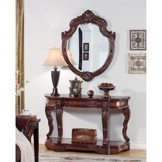 U0027Victoru0027 Traditional 2 Piece Console Table And Mirror Set