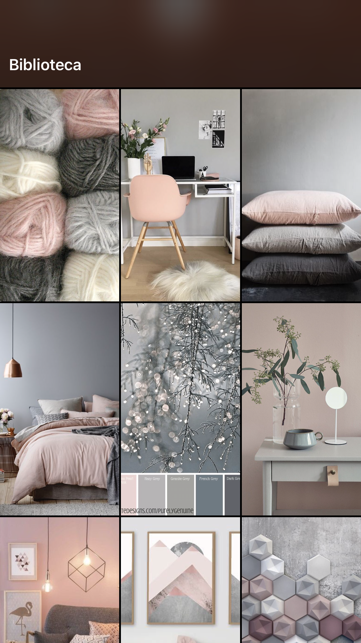 cinza e rosa - grey + pink  Living room colors, Bedroom interior