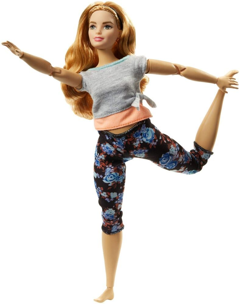 Black Barbie Made To Move Doll Top Articulated Posable Yoga Aerobics Dolls