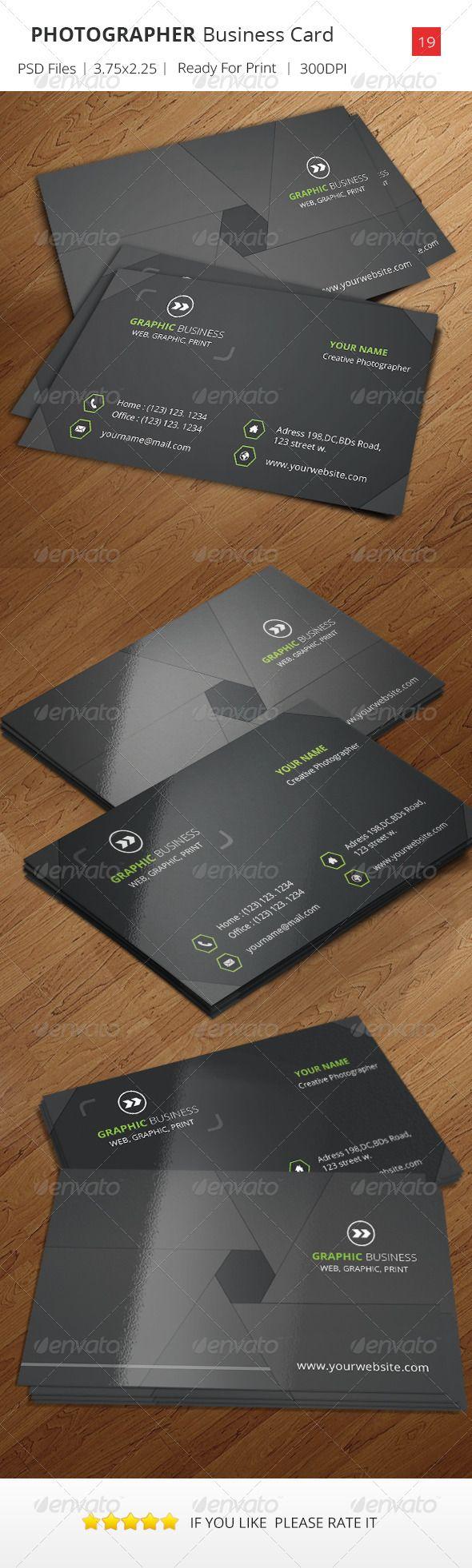 Photographer business card v19 business card pinterest photographer business card v19 reheart Choice Image