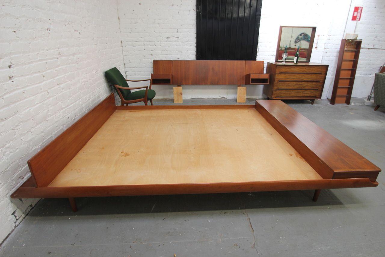 loft xiii stunning danish modern king platform bed with - Modern Platform Bed
