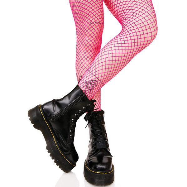 79ac97df23f Bright Pink Fishnets ( 8) ❤ liked on Polyvore featuring intimates ...