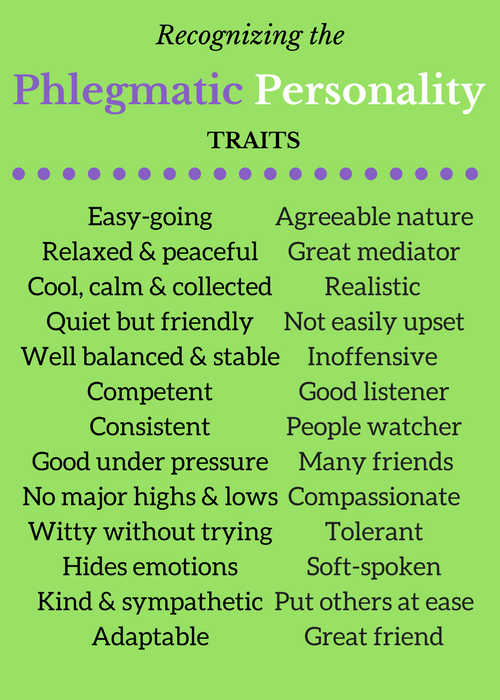 Person a phlegmatic who is Career Fits