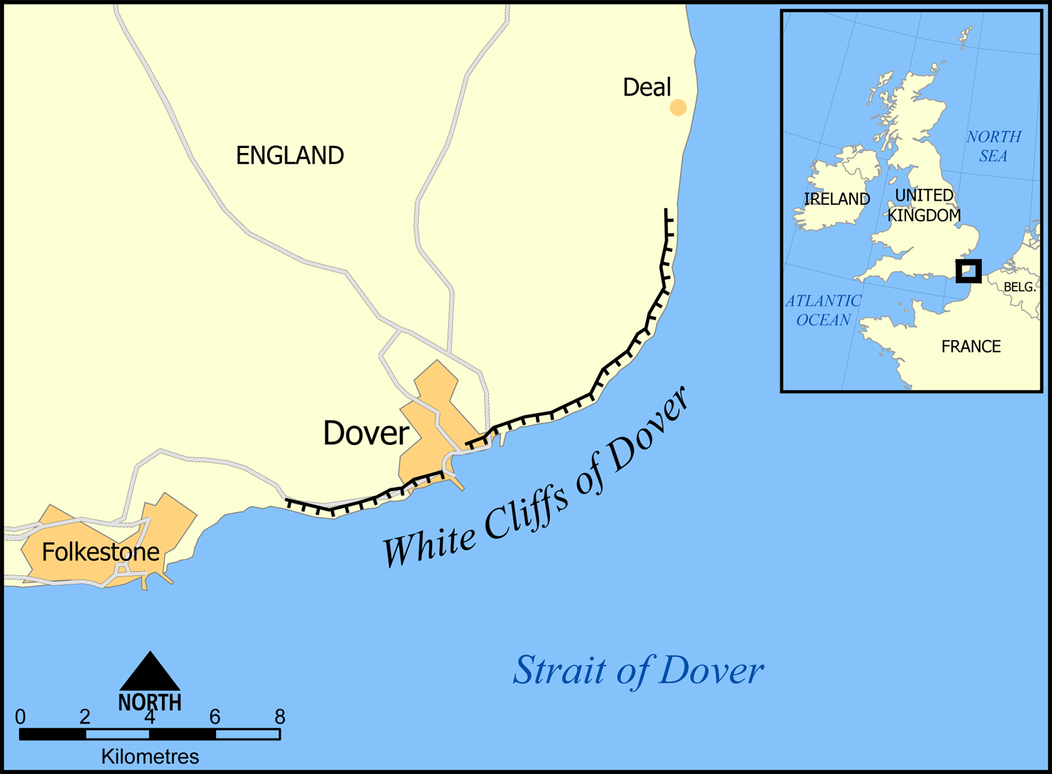 The location and extent of the white cliffs of dover what the location and extent of the white cliffs of dover gumiabroncs Gallery