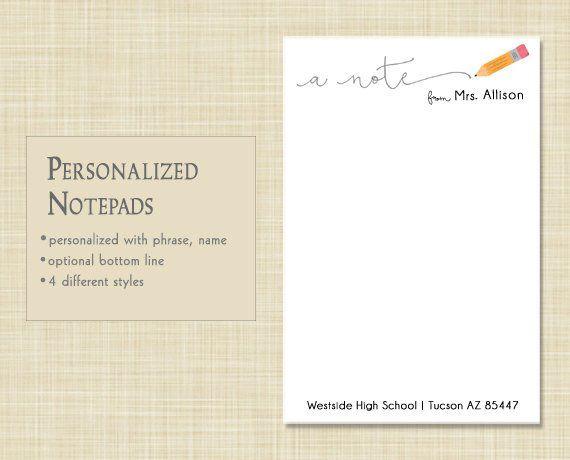 personalized teacher notepad teacher