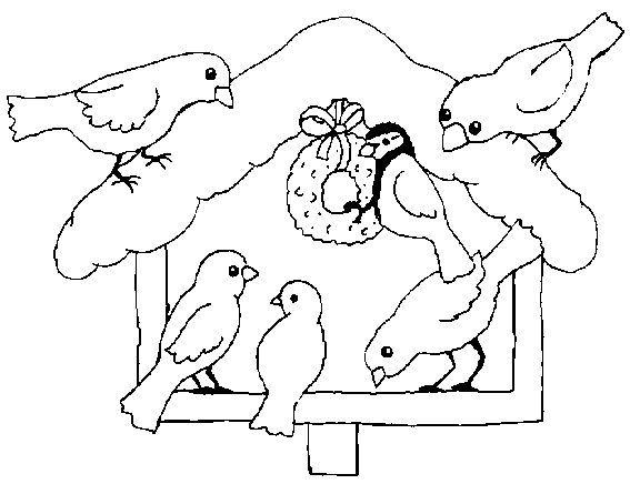Kŕmidlo Ausmalbilder Winter Mandala Malvorlagen Vogel Im Winter