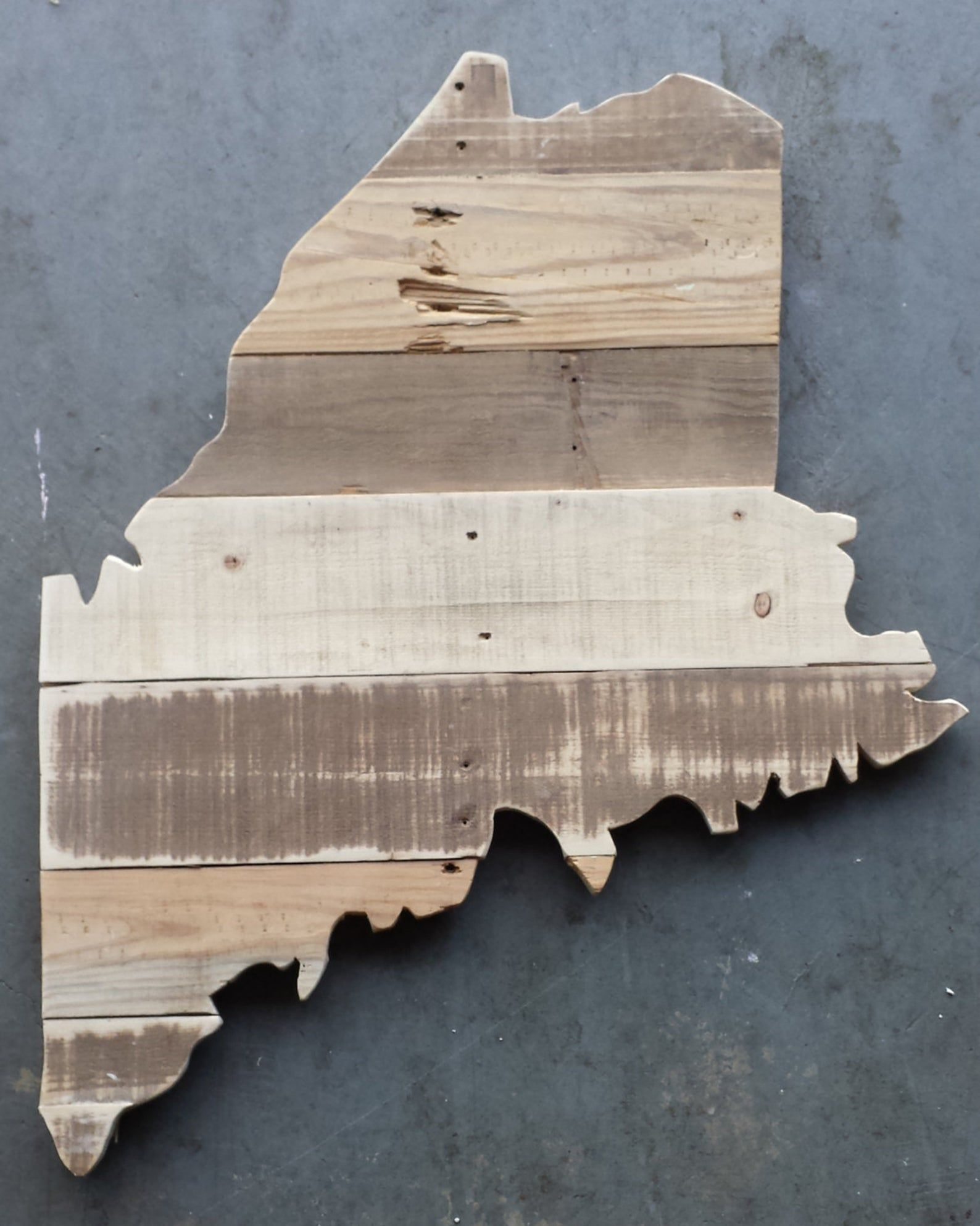 Reclaimed Wood State Of Maine Outline Reclaimed Wood State