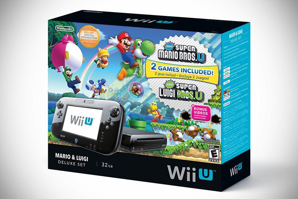 Nintendo Wii U Mario Luigi Deluxe Set Nintendo Wii U Console Wii U Nintendo Wii U Games