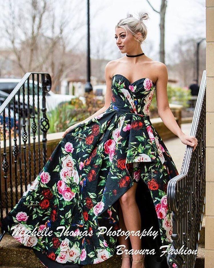 93e96b587c1 Bravura Fashion ( bravurafashion) • Floral prom dress high low Sherri Hill. Sherri  Hill Spring 2017