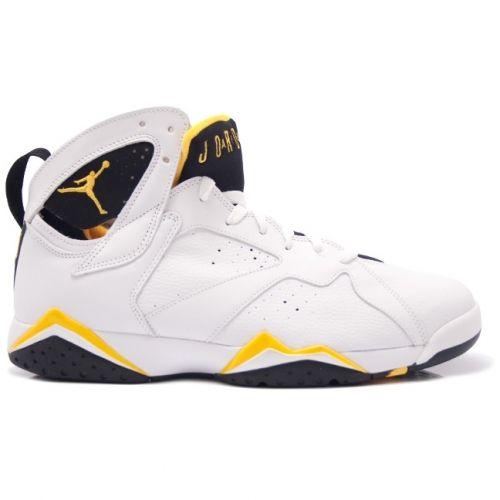 cheaper d3cbc f63a9 Air Jordan Retro 7 Womens White Maize Yellow 313358-172