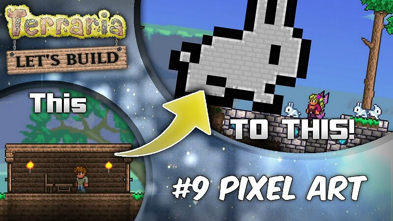 How To Build Pixel Art In Terraria Pixel Art Pixel Terrarium
