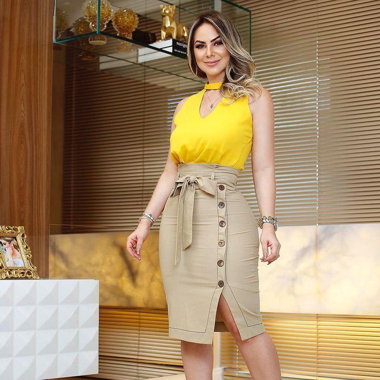 4e327d55cecbd2 COMO USAR - SAIA CLOCHARD | Vestidos da Nene | Blusas, Trajes com ...