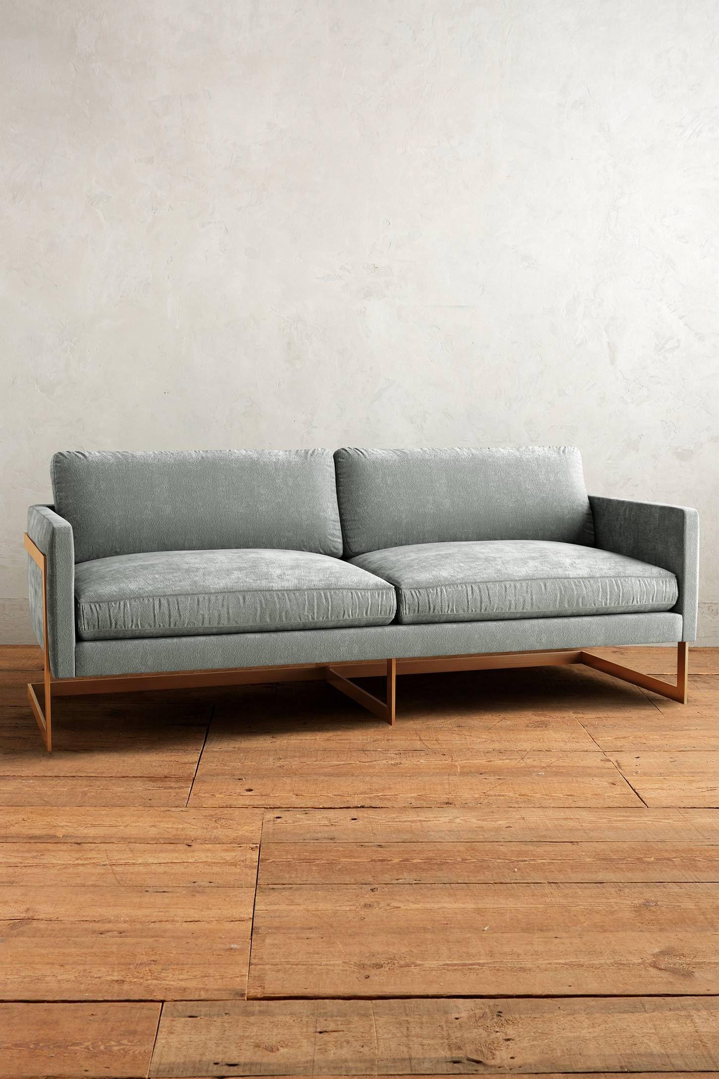 slub velvet meredith sofa | house