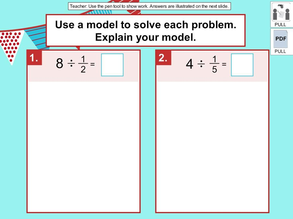 Dividing A Whole Number By A Unit Fraction Digicore