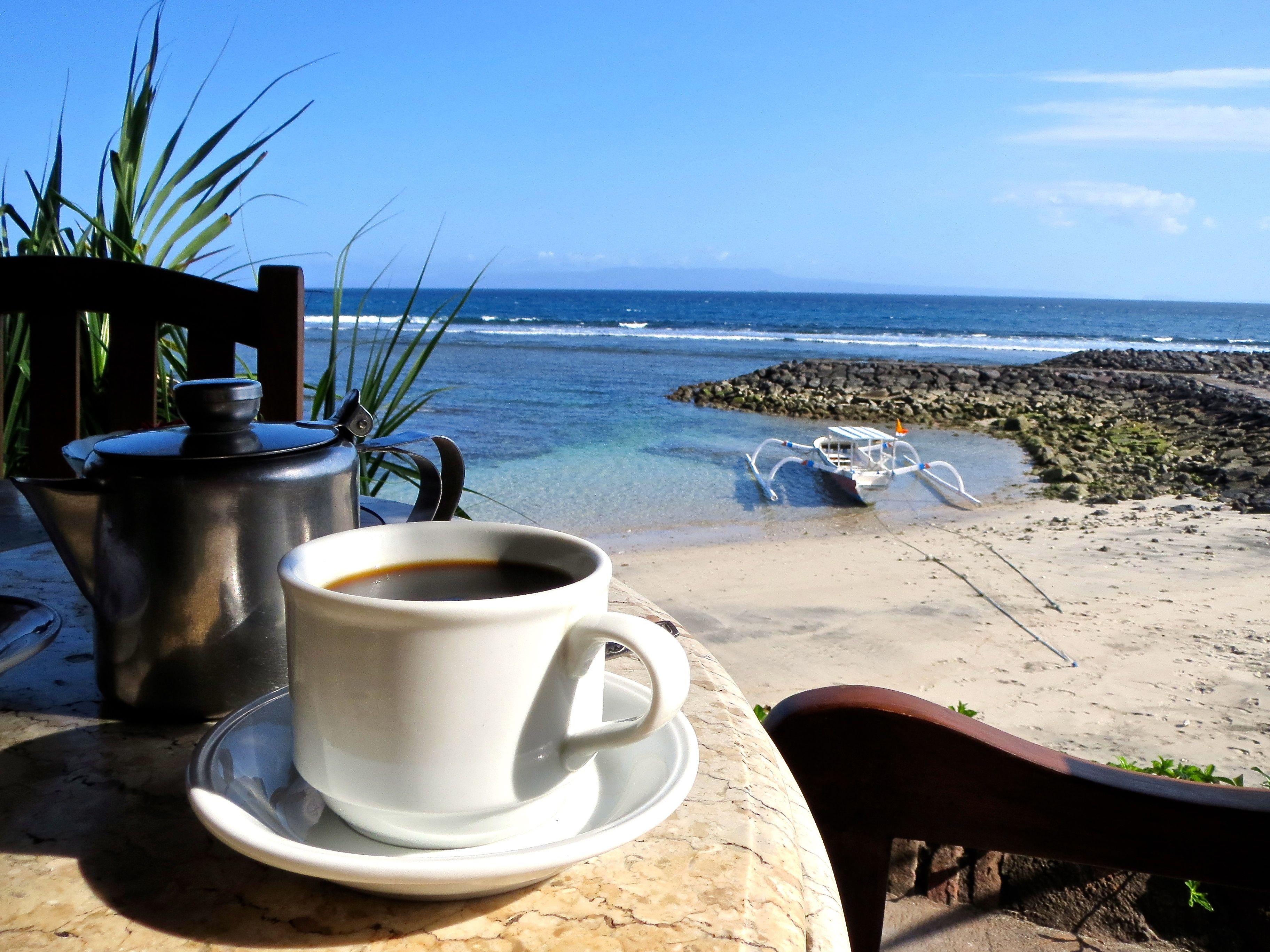 Картинки доброе утро кофе и море