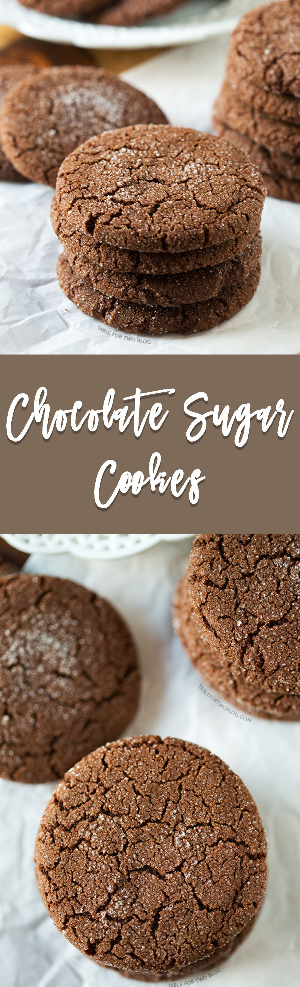 Chocolate Sugar Cookies - Table for Two® by Julie Wampler