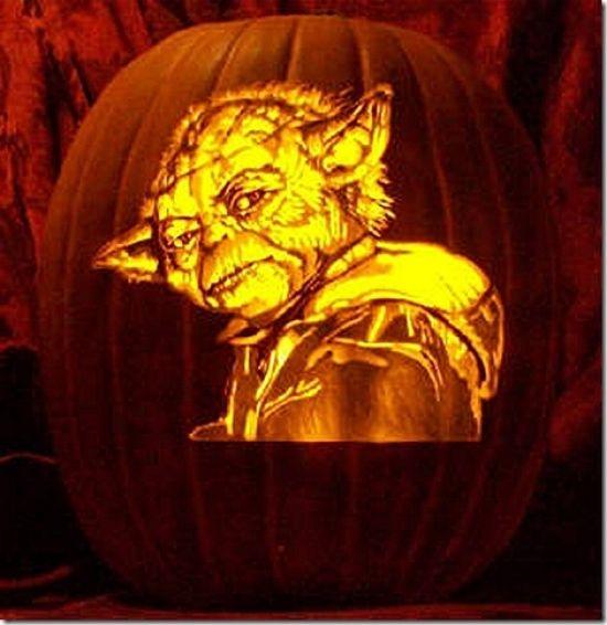 Yoda pumpkin carving amazing halloween ideas pumpkin carving