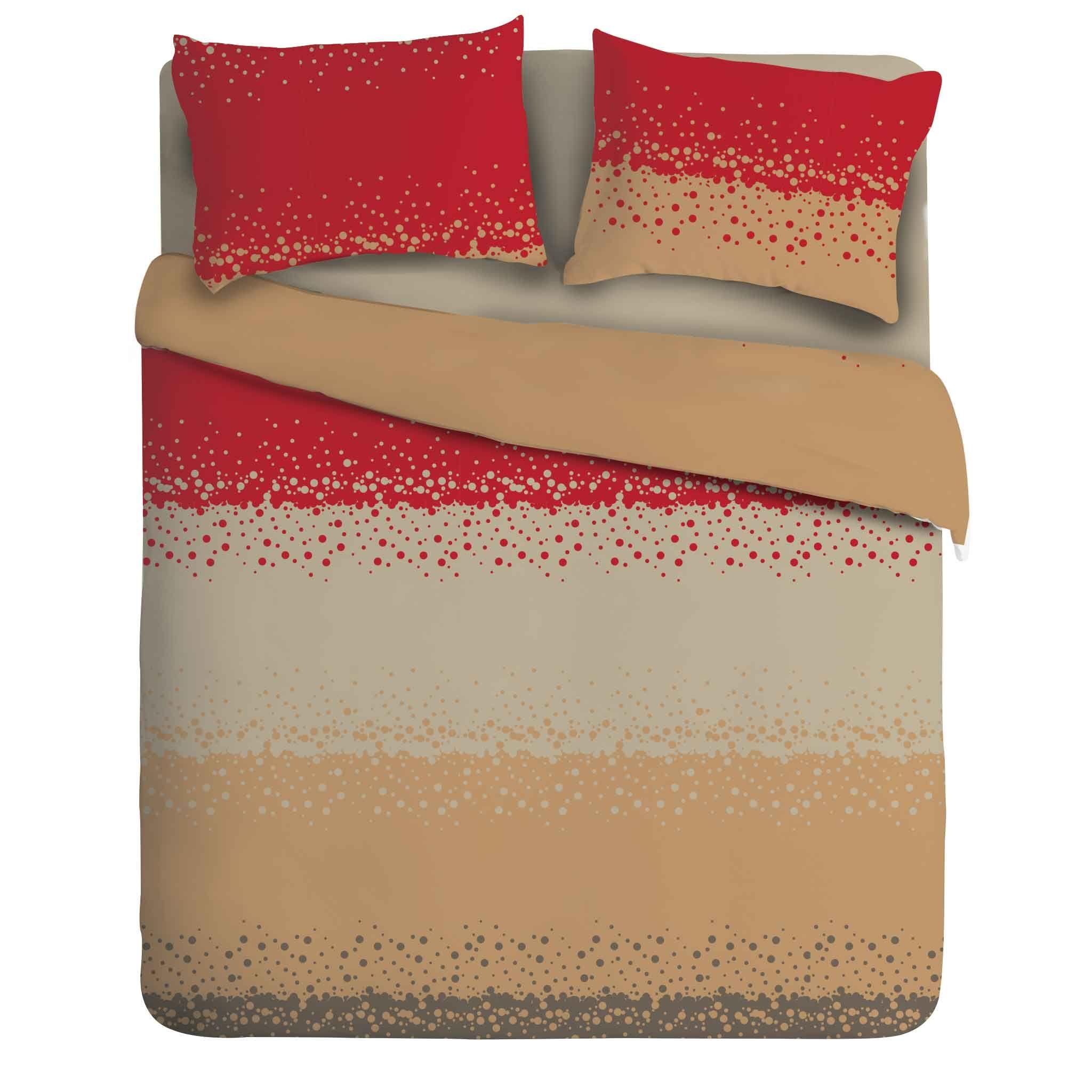 Juego de sábanas percal 180 hilos - CEREZA BEIGE