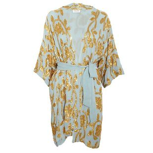 73828be2681 Ganni Gardenia Sequins Kimono Dress