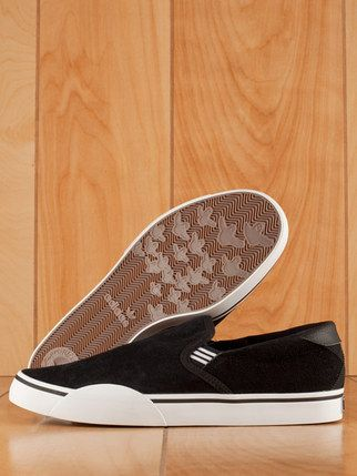separation shoes 39308 ee8de adidas gonz slip on shoe black white