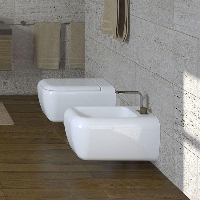 BIG wall hung wc White Shui  Water closet White bathroom