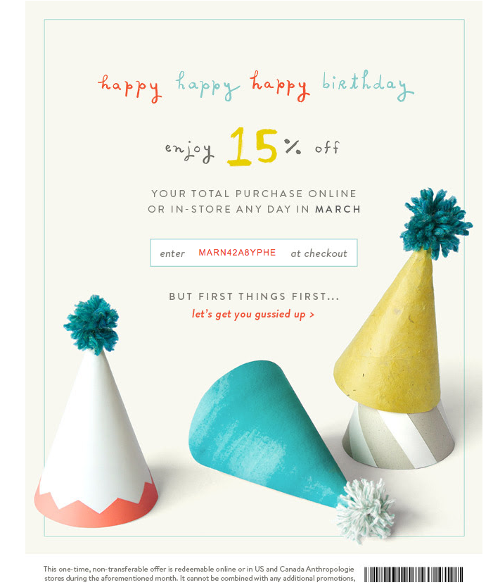 unique promo code birthday emails birthday pinterest