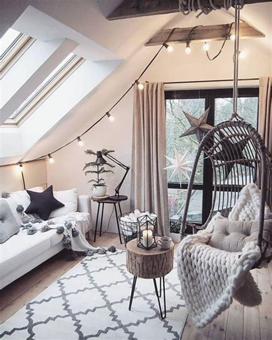 37 Adorable Attic Bedroom Ideas For Girls You Ll Love Craft Home Ideas Attic Living Rooms Tumblr Bedroom Decor Home