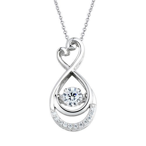 850268df052a0 Floating DiamonLuxe 5/8 Carat T.W. Simulated Diamond Sterling Silver ...