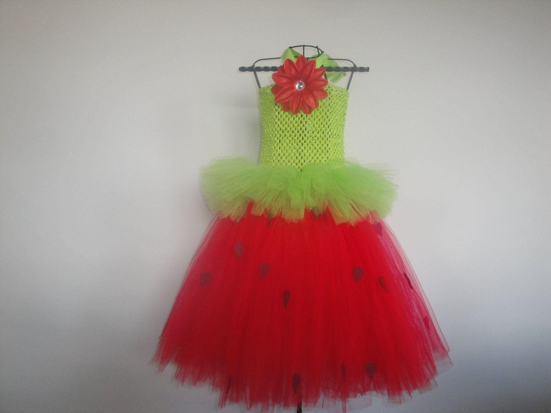 Strawberry and Cream Tutu Dress - Medium. $34.00, via Etsy.