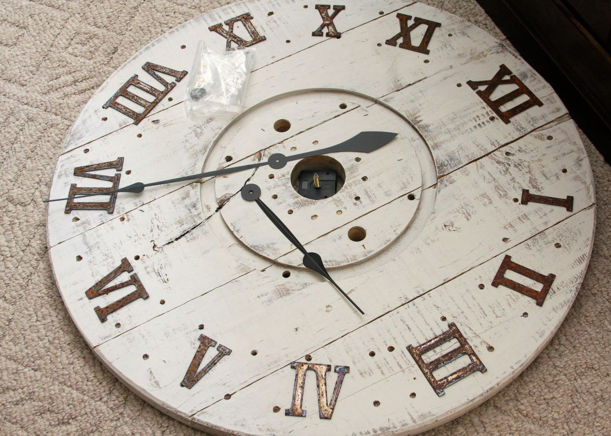 How To Turn A Cable Spool Into A Stunning Wall Clock Clock Wood