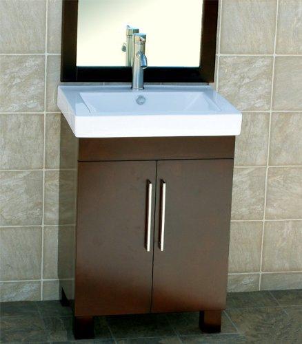 "24"" Bathroom Vanity Ceramic Top with Integrated"