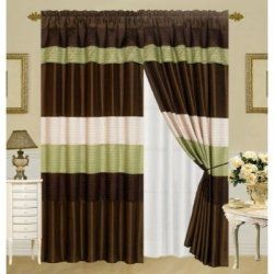 Green and Brown Curtains