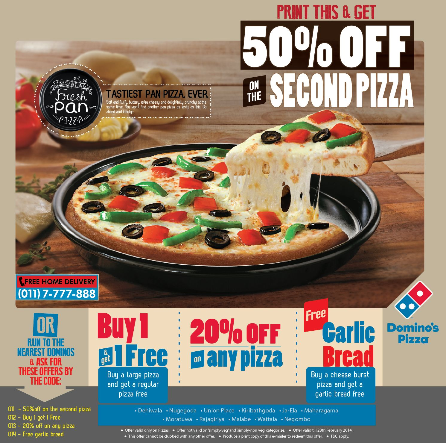 Pizza Sri Lanka Dominos