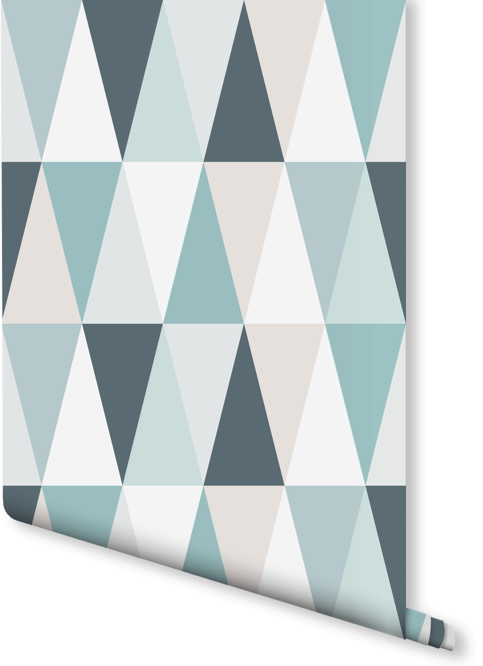 After The Scandi Look In Your Home This Geometric Wallpaper Design Features A Subtle Yet