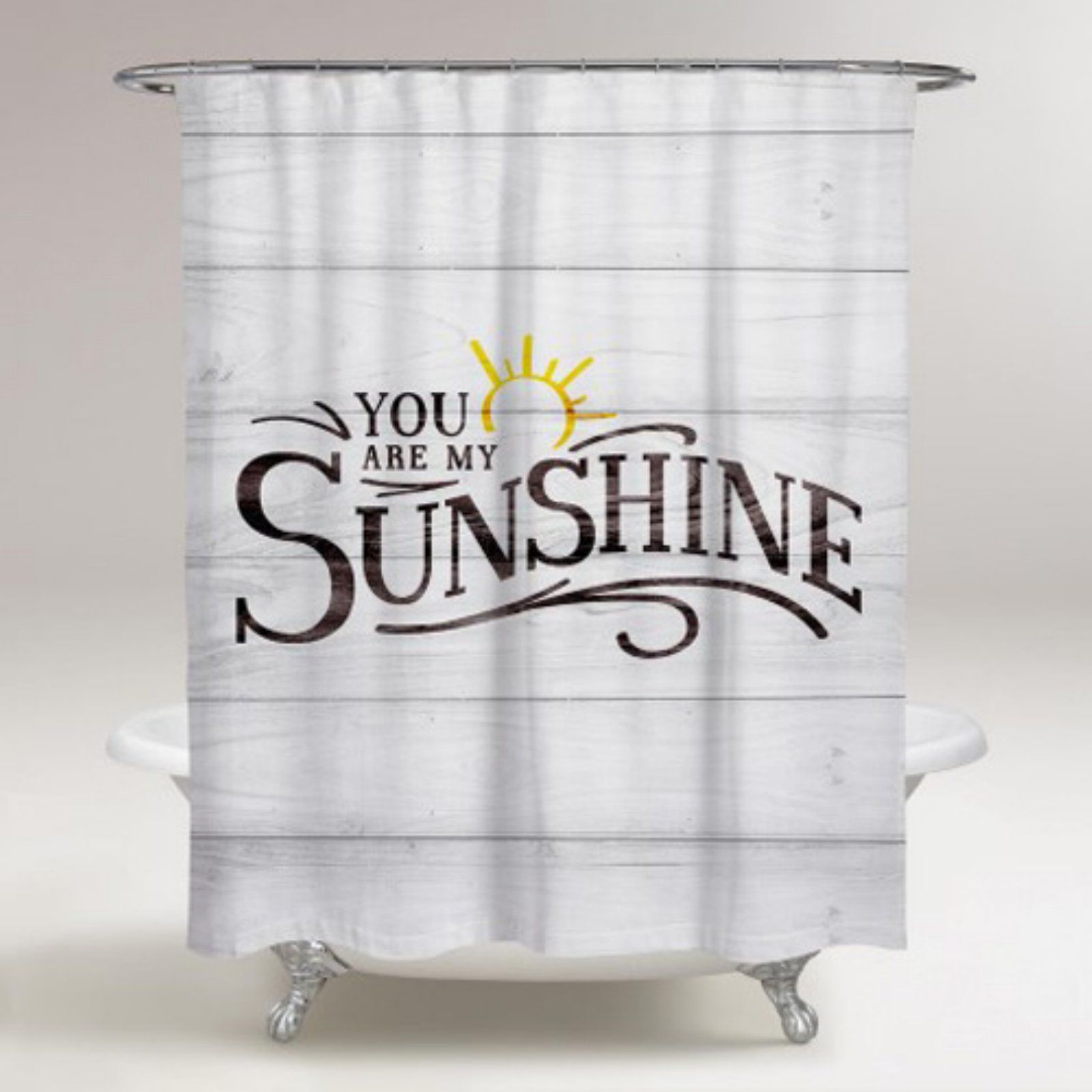 Runway Avenue My Sunshine Shower Curtain In 2020 Curtains Spa