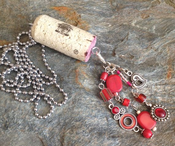 Upcycled Wine Cork Necklace  Mix and match by DesignsByDenisia, $9.99