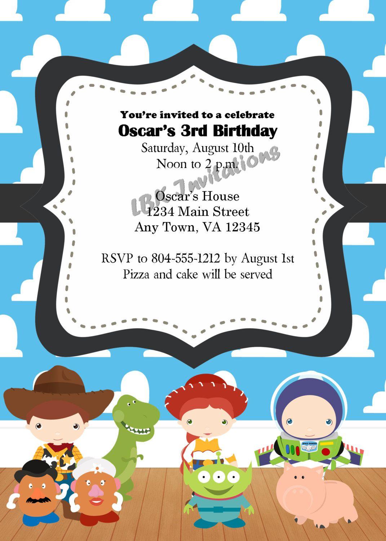 Custom Toy Story Birthday Invitation by LBKInvites on Etsy, $12.00 ...