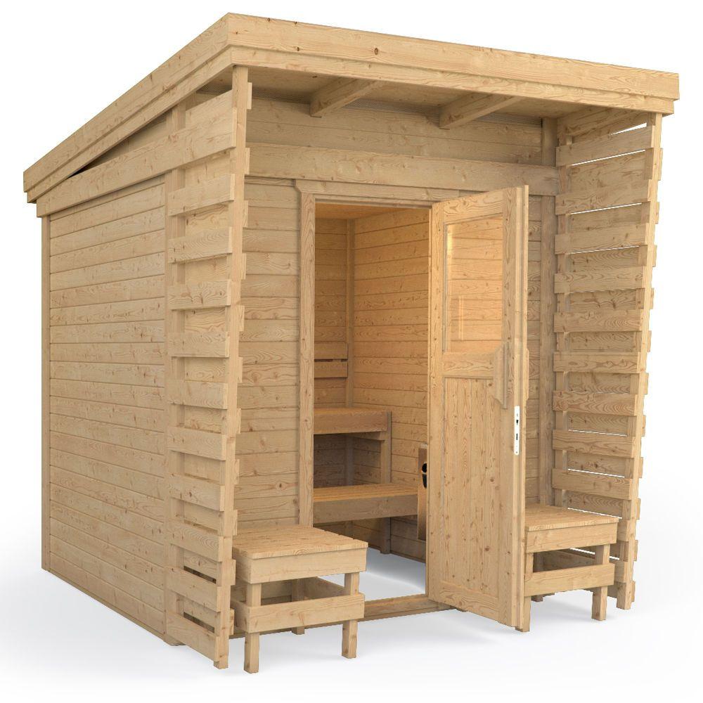 Details zu ISIDOR Gartensauna Saunahaus Sauna Gartenhaus 2x2m